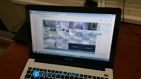 Компьютер с подключенным видеонаблюдением