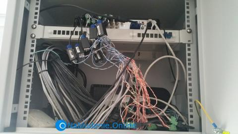 16 канальный гибридный видеорегистратор в навесном шкафу